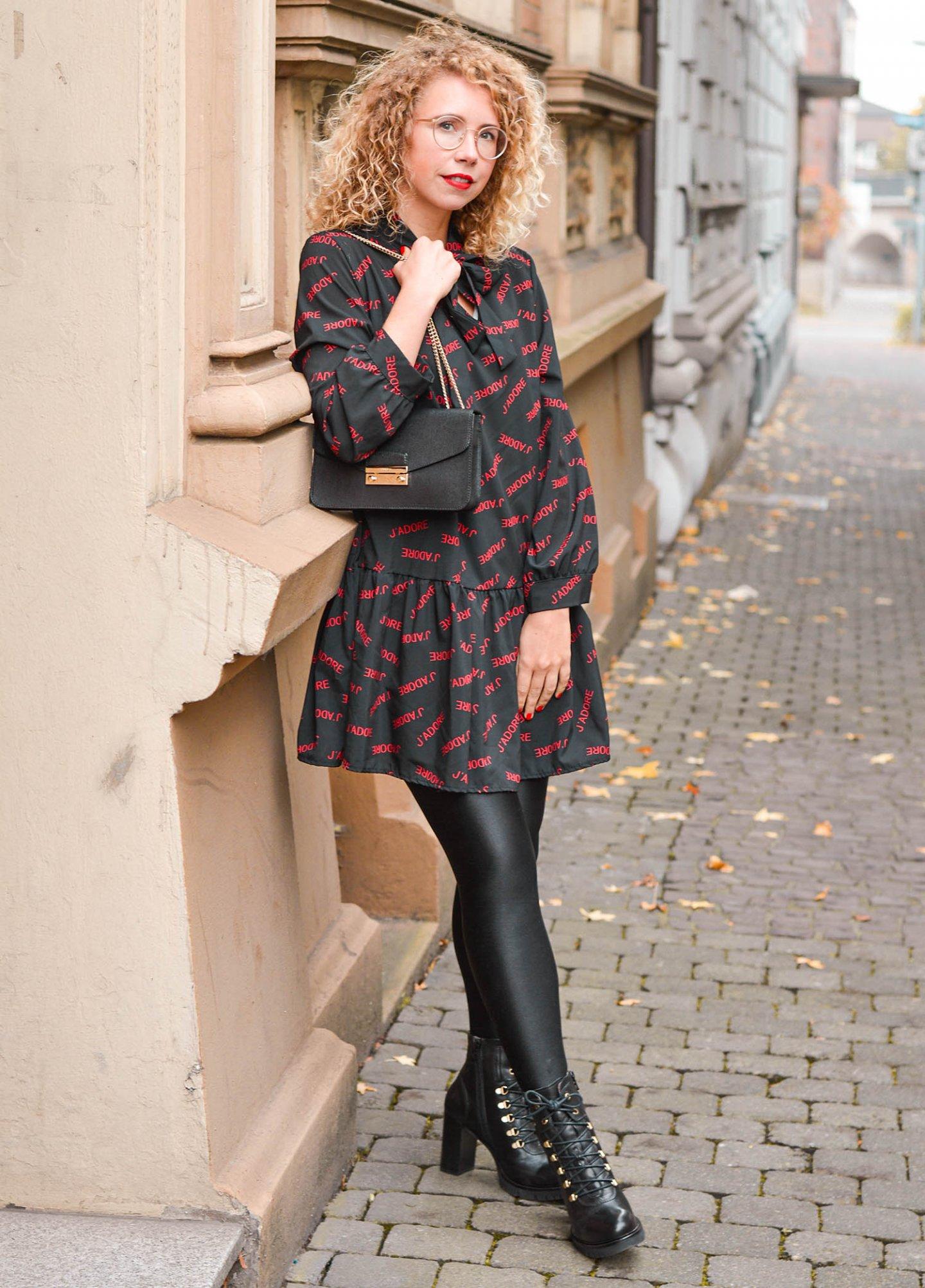 Babydoll Kleid mit J'adore Dior Print
