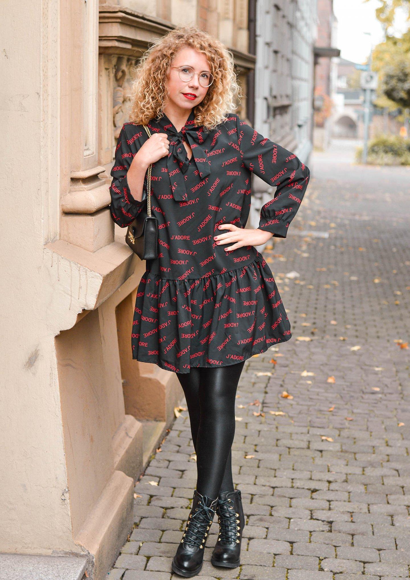 Babydoll Dress mit Schluppe elegant - Herbstoutfit