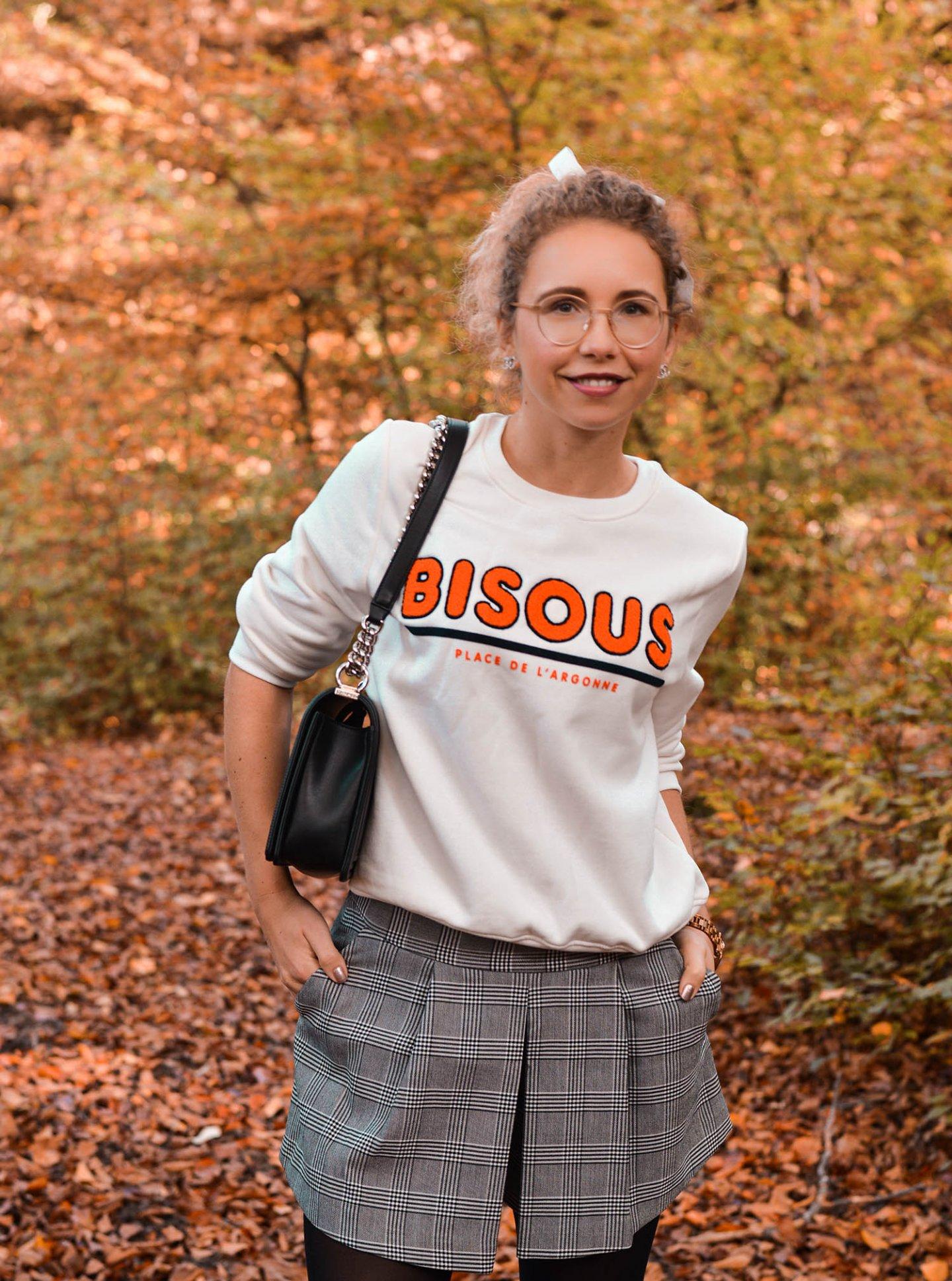 H&M Sweatshirt mit Bisous Print - Herbstlook