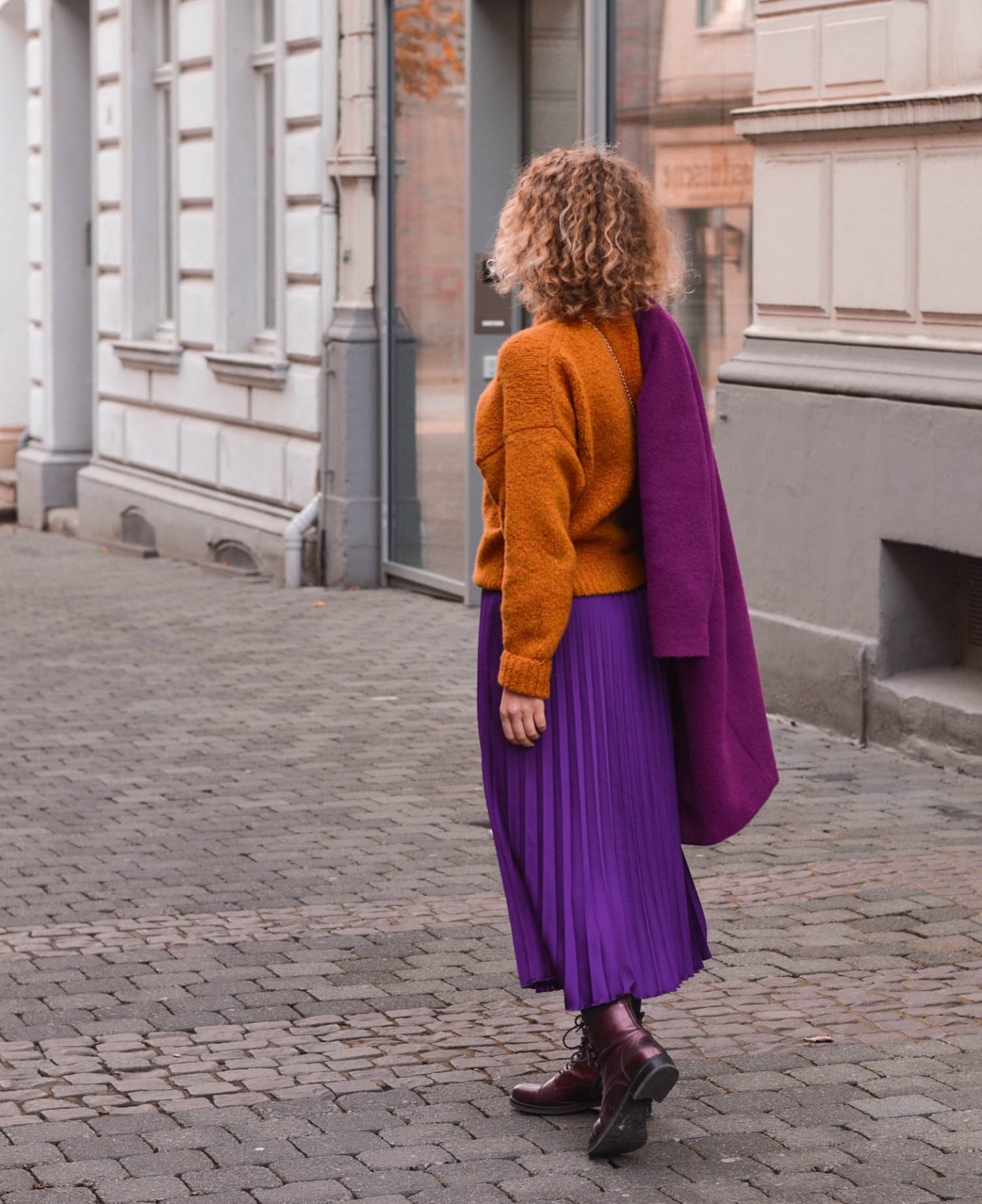 color-blocking outfit im winter