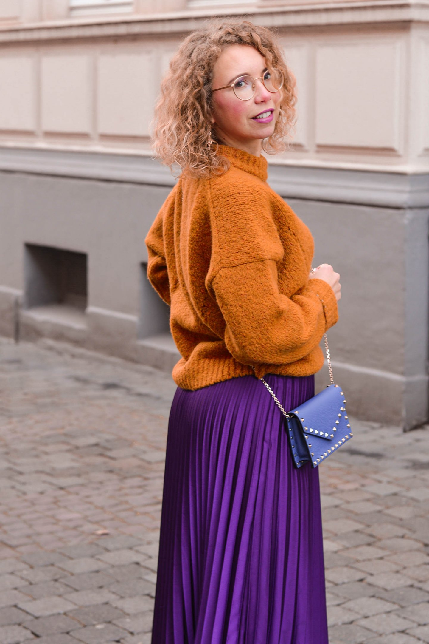 curry trifft auf lila - color-Blocking