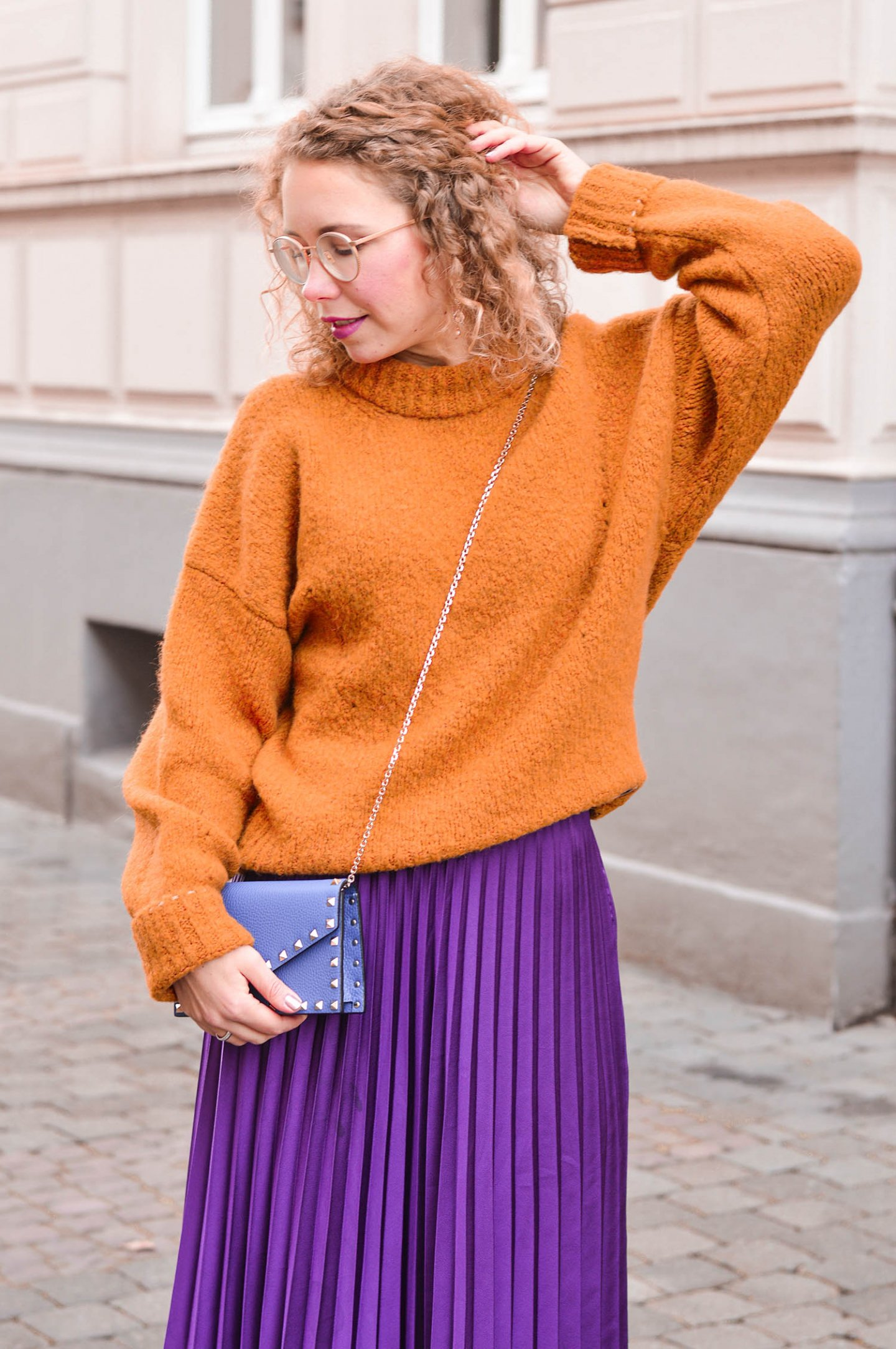 color-blocking winter outfit