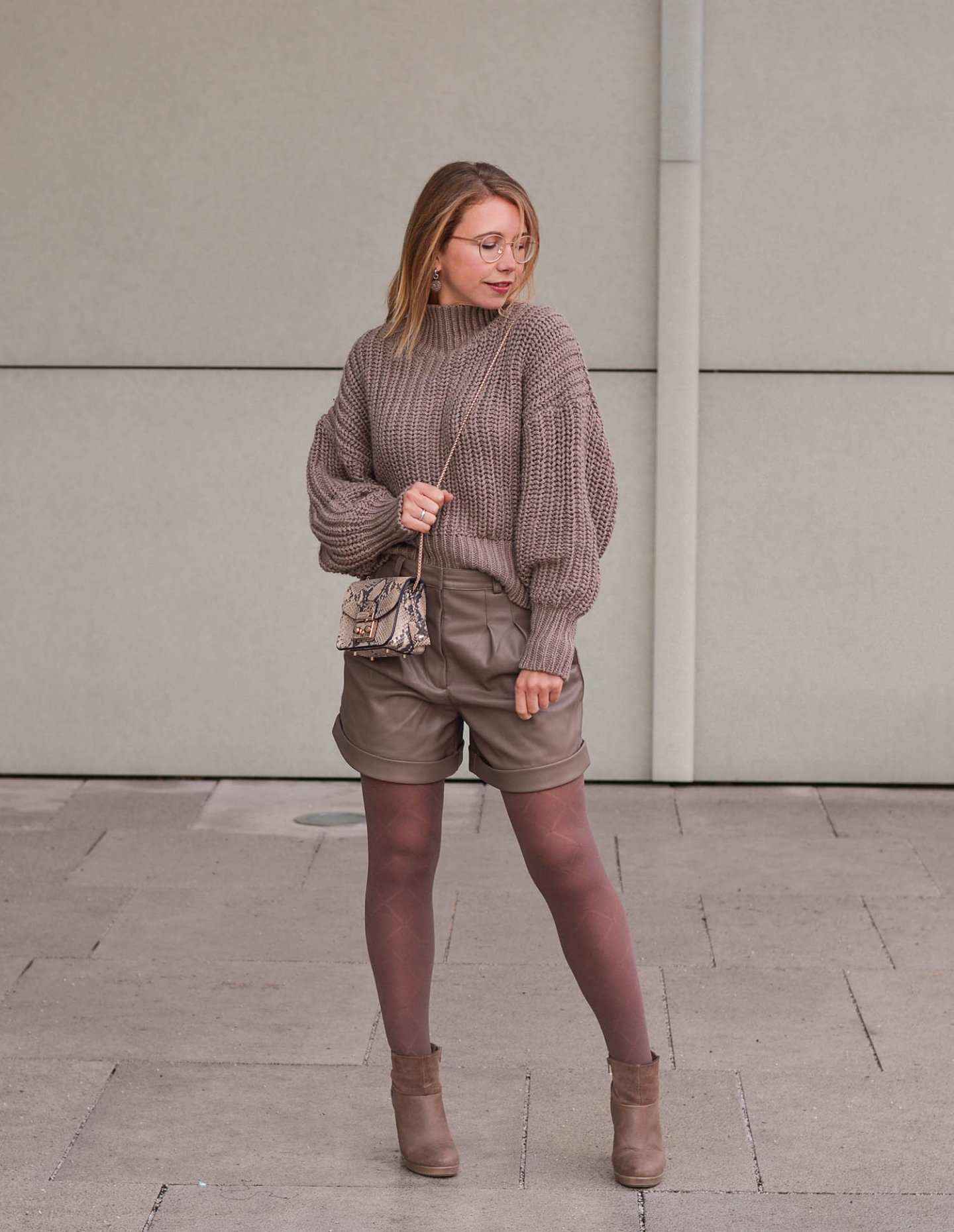 Monochromatic winter outfit