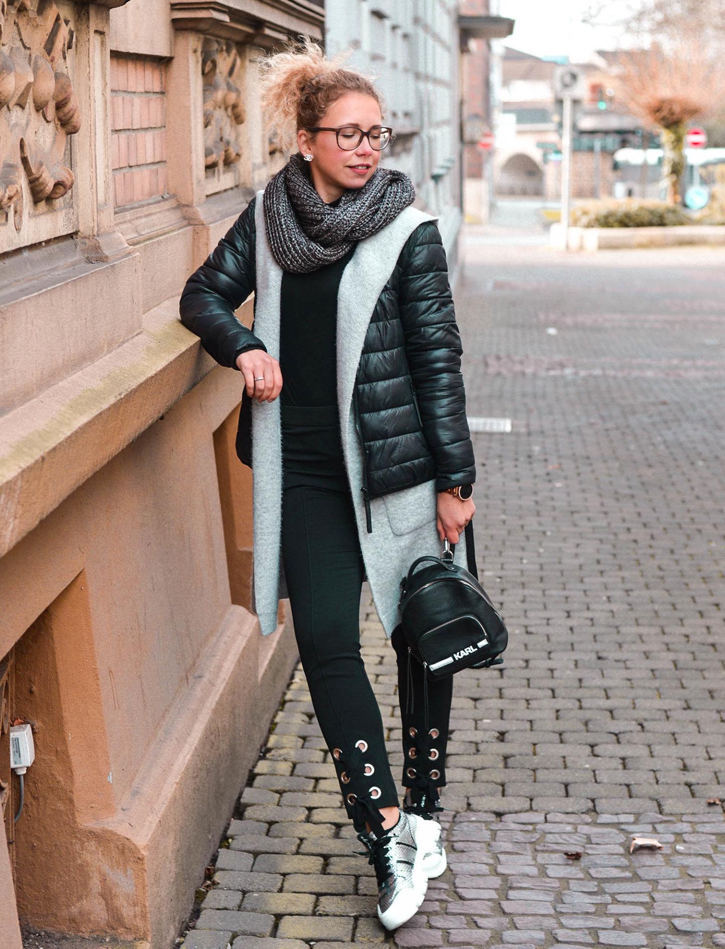 Winteroutfit mit Chunky Sneaker von Kennel & Schmenger