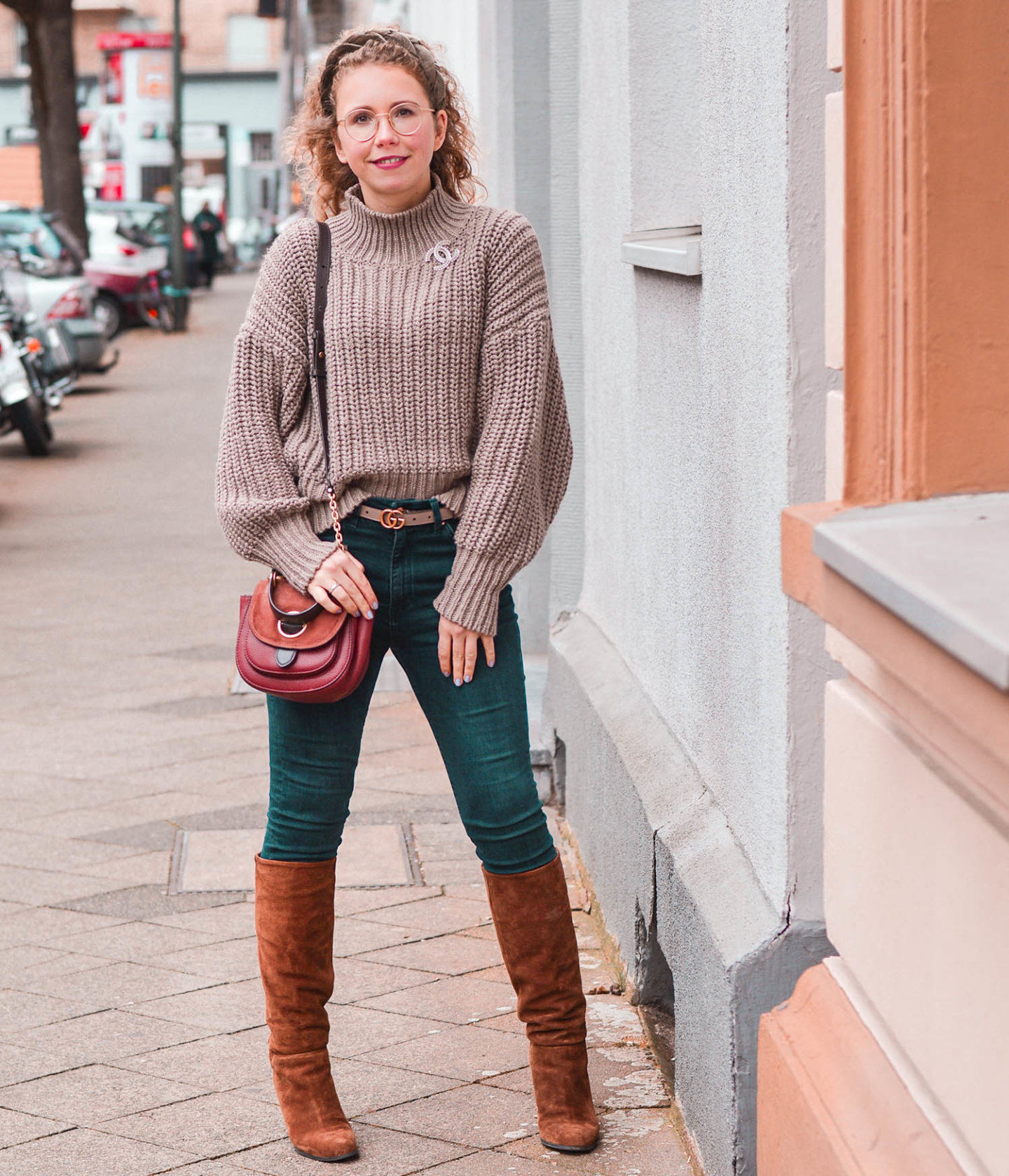 Jeans-Stiefel-Kombi Klassisches Outfit