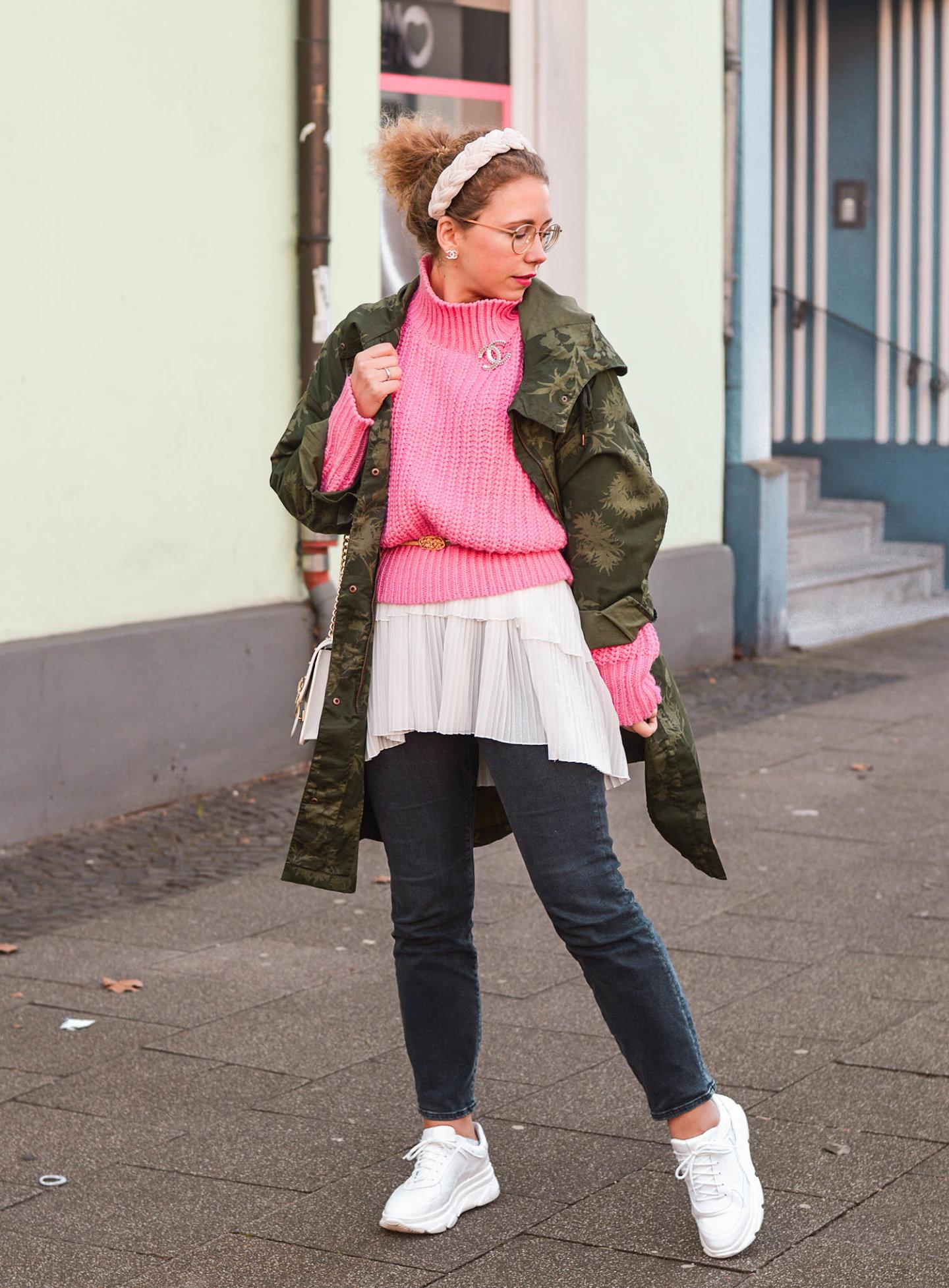 Farbkombi khaki meets pink
