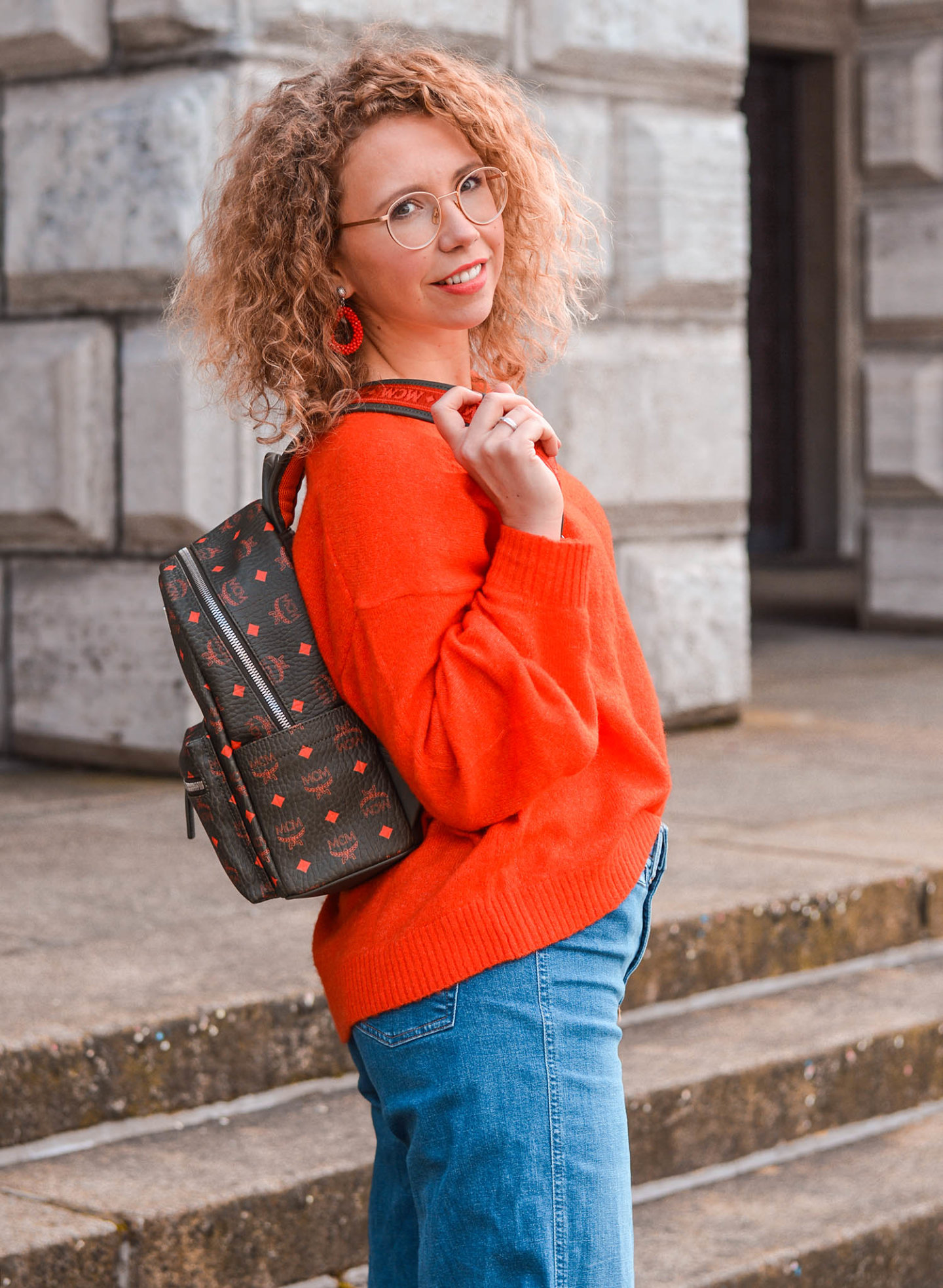 frühlingsoutfit mit mcm-rucksack