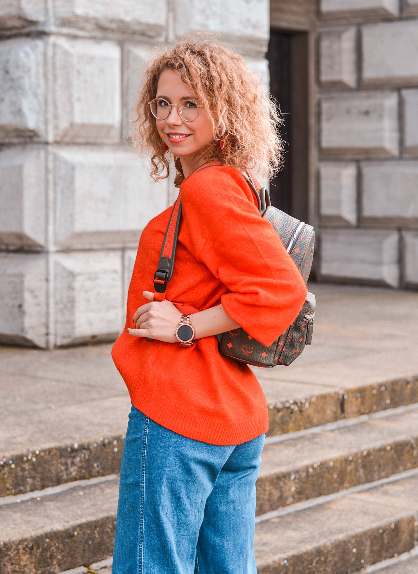 outfit inspiration mit mcm-rucksack