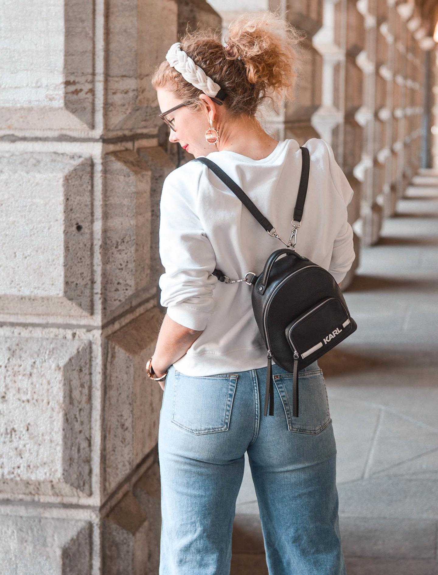 mini rucksack von karl lagerfeld