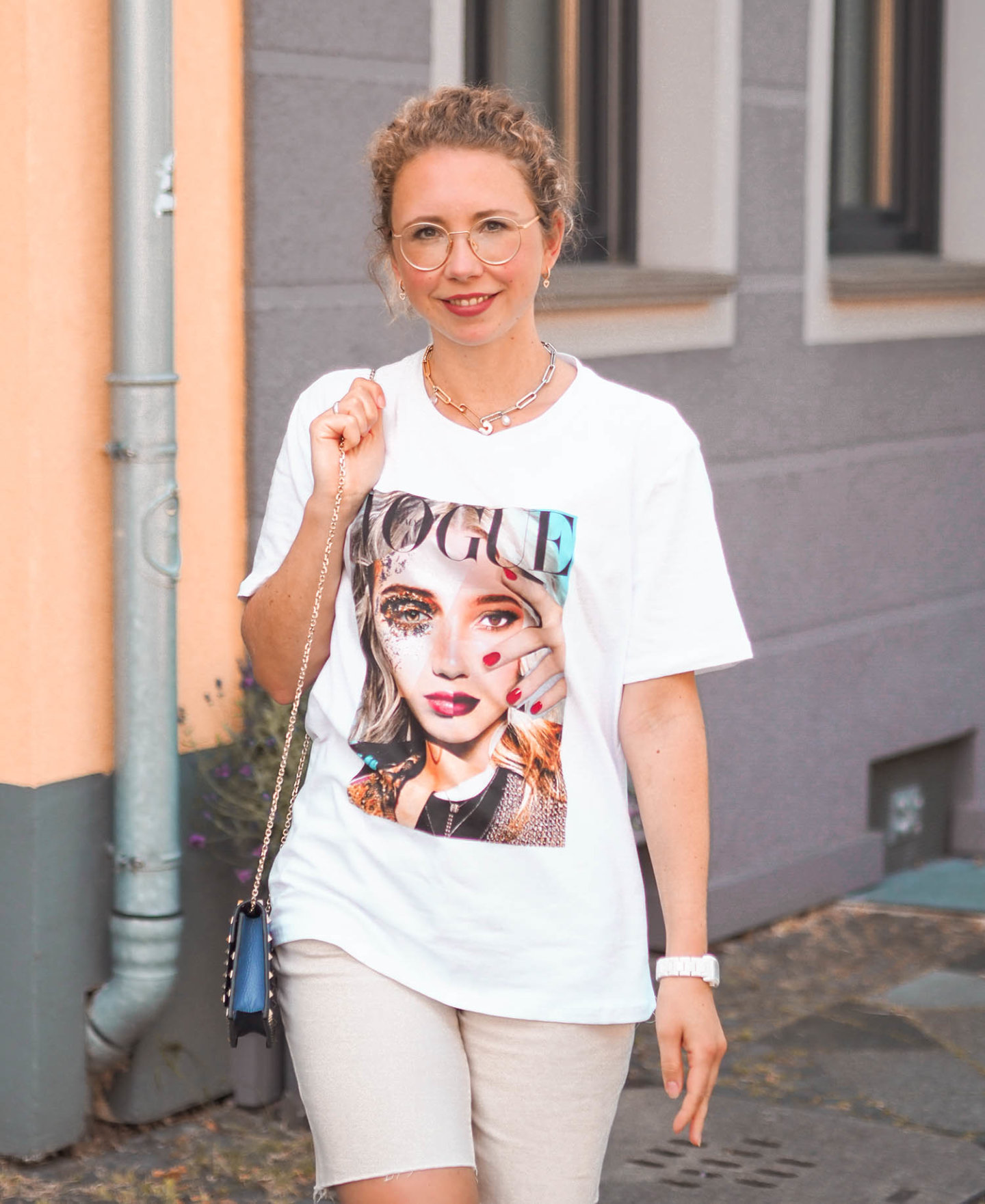 VOGUE T-Shirt mit Foto-Print