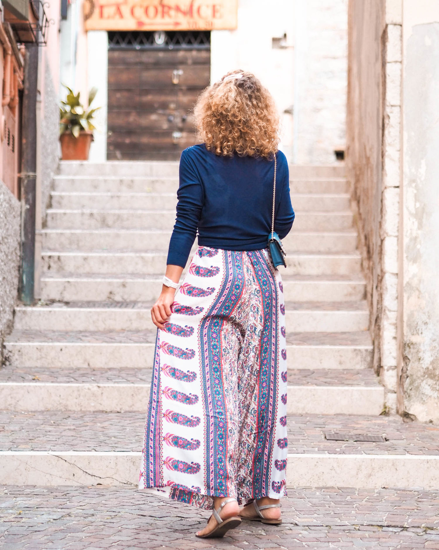 Sommer-Jumpsuit mit Paisley-Muster